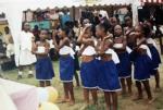 Pupils from Binta doing a dance