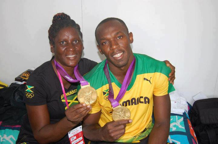 Usain Bolt and his mum
