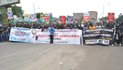 PHOTOS: Civil society shut down Benin over poor power supply by BEDC